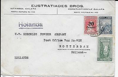 Turkey 1930? cover from Istambul to Rotterdam Netherlands.