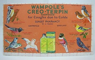 Old Wampole's Creo-Terpin for Coughs due to Colds Paper Advertising Sunset Pharm