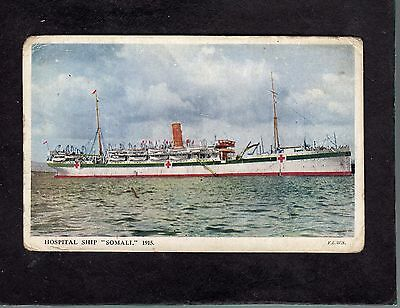 """Somali"" P&O Line as hospital ship postcard"