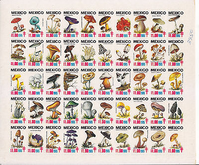 Mexico Tuberculosis 1985 Mushrooms. comp sheet.MNH.vf