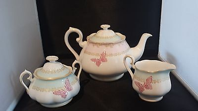 Royal Albert Zandra Rhodes 'my Favourite Things' Teapot, Lidded Sugar & Milk Jug