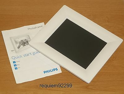 "Philips 8Ff2Fpw/37 8"" White Lcd Digital Photo Frame & Quick-Start Guide Only"