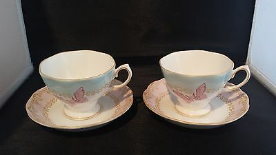 Royal Albert Zandra Rhodes 'my Favourite Things' Tea Cups And Sauces X 2