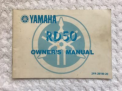 Used Genuine Yamaha Owners Manual Rd50 1986  Model 2Fr-28199-20