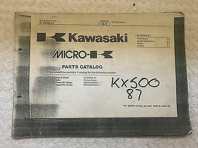Used Parts List For A Kawasaki Kx500 C1 1987 Model