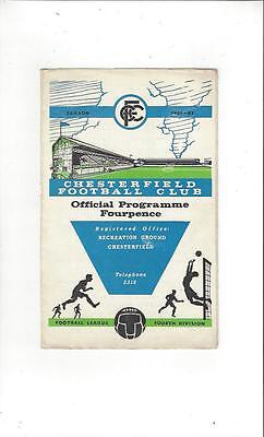 Chesterfield v Southport Football Programme 1961/62