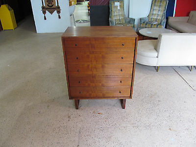 Mid Century Modern Paul Mccobb Style 5 Drawer Chest