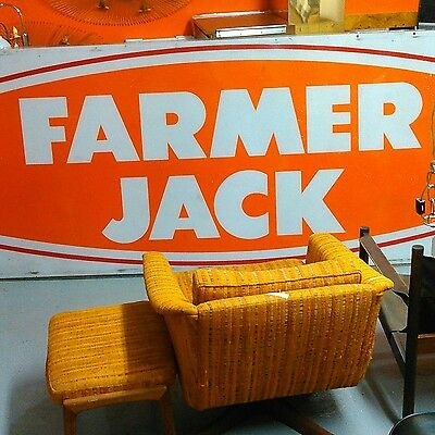 Vintage Farmer Jack's Advertising grocery store large sign! Metro Detroit a&p