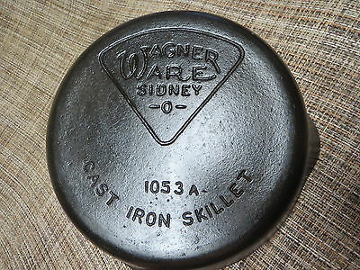 Wagner Ware Cast Iron No.3 Pie Logo Skillet 1053A
