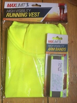 Max Limit High Visibility Running Vest + Arm Bands
