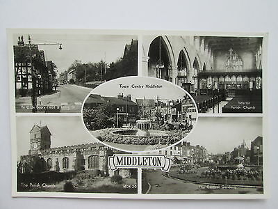 Old RP Postcard - Middleton , Rochdale , Greater Manchester .