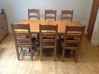Marks & Spencer's Solid Oak Extending Dining Table And 6 Chairs