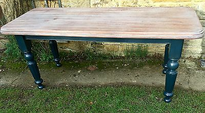 Antique Table Kitchen Dining Mahogany Scrub Top