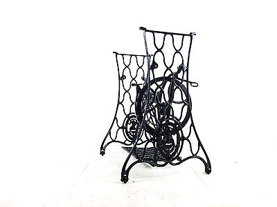 Antique Singer Sewing Machine Treadle Stand Table Display Garden Vintage
