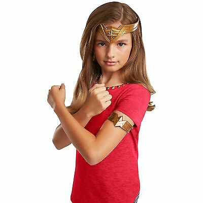 NEW DC Comics Wonder Woman Headdress Arm Band MOVIE GIRL KID CUTE