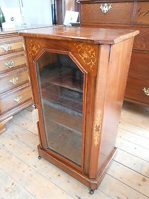 Beautiful Victorian Inlaid Walnut Music Cabinet *Nationwide Delivery Available*