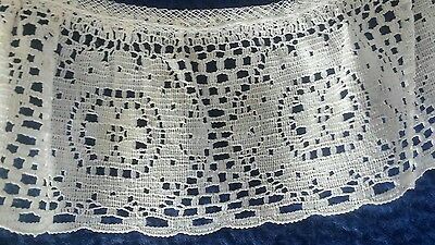 vintage ivory lace collar cotton scalloped