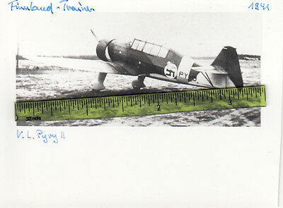 RARE WWII Aviation Photo FINNISH V L PYRY II TRAINER Aircraft 1941 Finland 1
