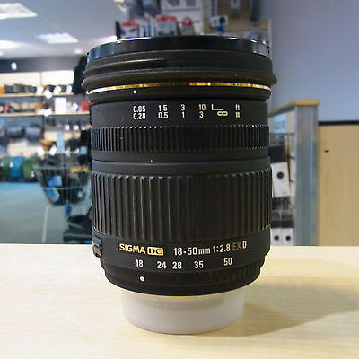 Used Sigma 18-50mm F2.8 EX D lens in Nikon Fit - 1 YEAR GTEE