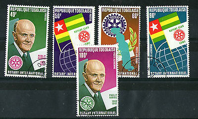 Togo 1972 Rotary International Set Of All 5 Commemorative Values Stamps Cto