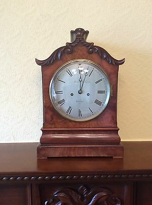 Regency Mahogany Bracket Clock. c1820.
