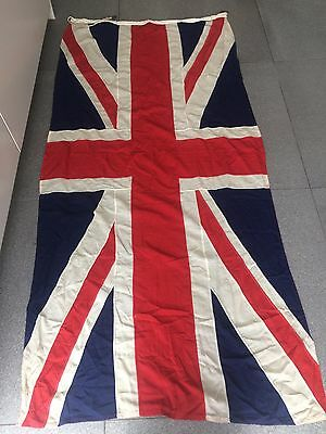 Vintage authentic WW2 era Union Jack British flag linen 228 x 104 cm