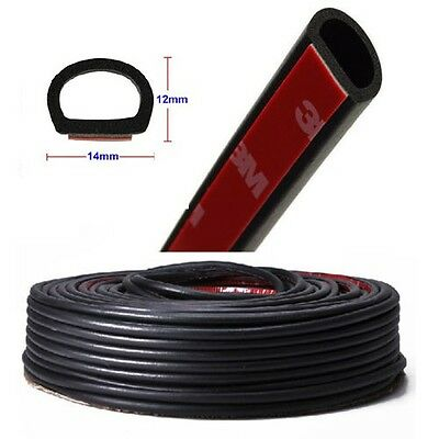 "120"" 3M D Shape Car Auto Door Trunk Rubber Edge Trim Seal Strips Weatherstrips"