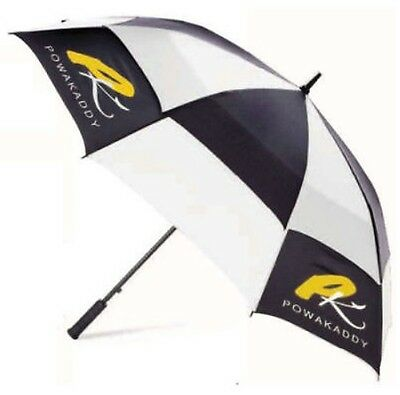 Powakaddy Double Canopy Windproof Umbrella (White/black/yellow)