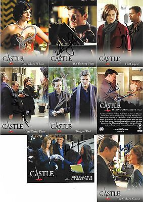 CASTLE lot of 8 autographs