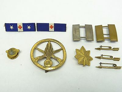 Mixed Lot of Army Military Captains Bars Pins Medic Grenade Arrows Badges Pins