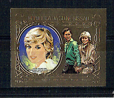 Guinea Bissau 1982 Birth Of Prince William Gold Imperforate Mnh