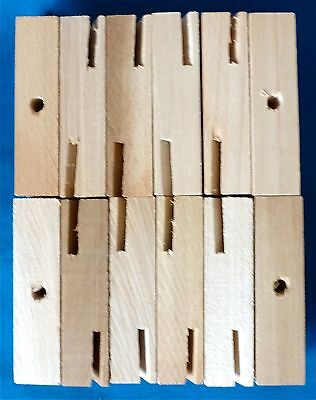Whirligig Wooden 2 Blade Hubs, 12 pieces.