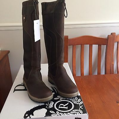 Rhinegold Elite Vermont Country Boots Size 5 (38) Brown