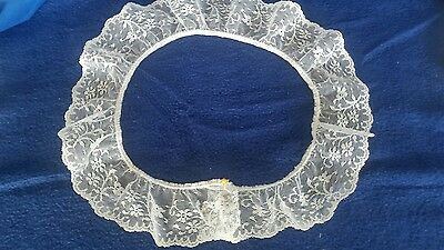 vintage french ivory scalloped lace collar