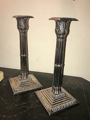 Victorian Hawksworth Eyre Silver plater candle sticks