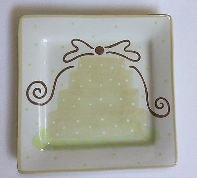 NEW -COTON COLORS serving PLATTER Wedding Cake Birthday Plate new with tag