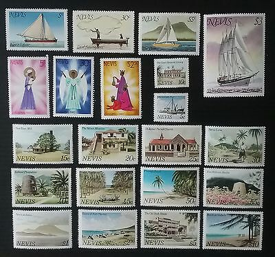 Nevis, 1980-81 3 complete sets of MNH stamps