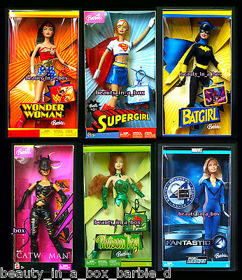 Wonder Woman Barbie Doll Supergirl Catwoman Batgirl Poison Ivy Super Hero Lot6SW