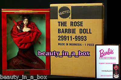 The ROSE Flowers in Fashion Barbie Doll in Mattel SHIPPER with Avon Flower Box