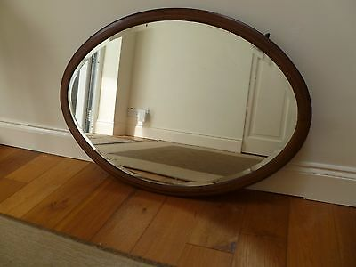 Antique Edwardian Overmantle Mirror With Chain