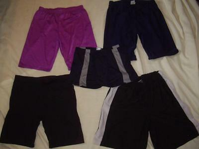 Lot of 5 Shiny Spandex Shorts Assorted Colors Size Large Gym Running