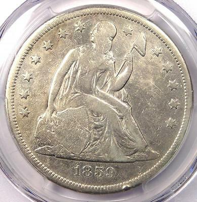 1859-O Seated Liberty Silver Dollar $1 - PCGS VG Details - Rare Certified Coin!