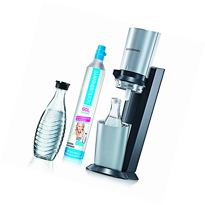 SodaStream Water Carbonator Crystal with 1 x CO2 Cylinder 60 L an