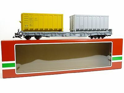 LGB Trains 40922-1 RhB Stake Car With Containers G Scale Model Trains Railroads