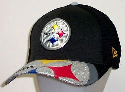 Pittsburgh Steelers New Era NFL Draft On Stage 39Thirty Flex Hat / Cap size M/L