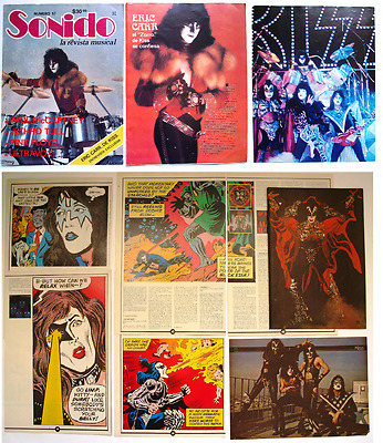 The Kiss Gene Simmons Paul Stanley Eric Carr  Clipping -Cutting -Pin/up - Poster