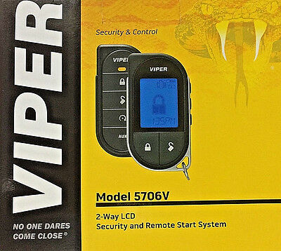 VIPER 5706V RB* Alarm Mobile 2-Way Pager Security System w/ Keyless Remote Start