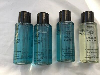 marks and spencers bath nectar x 4 50ml bottles New
