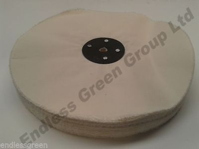 "8"" x 1""  Loose Leaf Cotton Buffing Wheel - Soft Polishing Mop 200 x 25mm L200/80"
