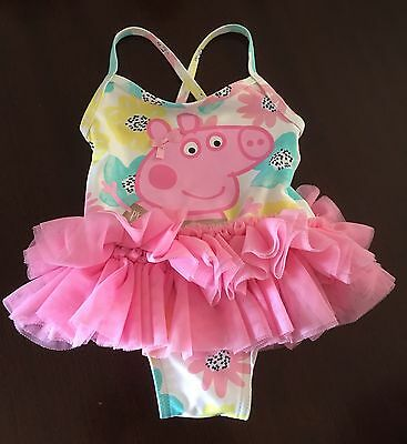 Pepper Pig Girls Swimming Costume Age 9-12 Months Never Worn